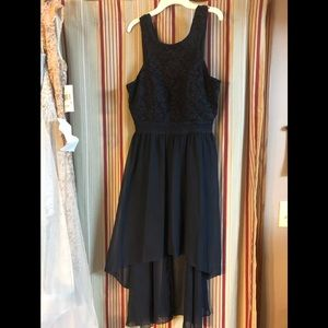 Speechless navy formal gown